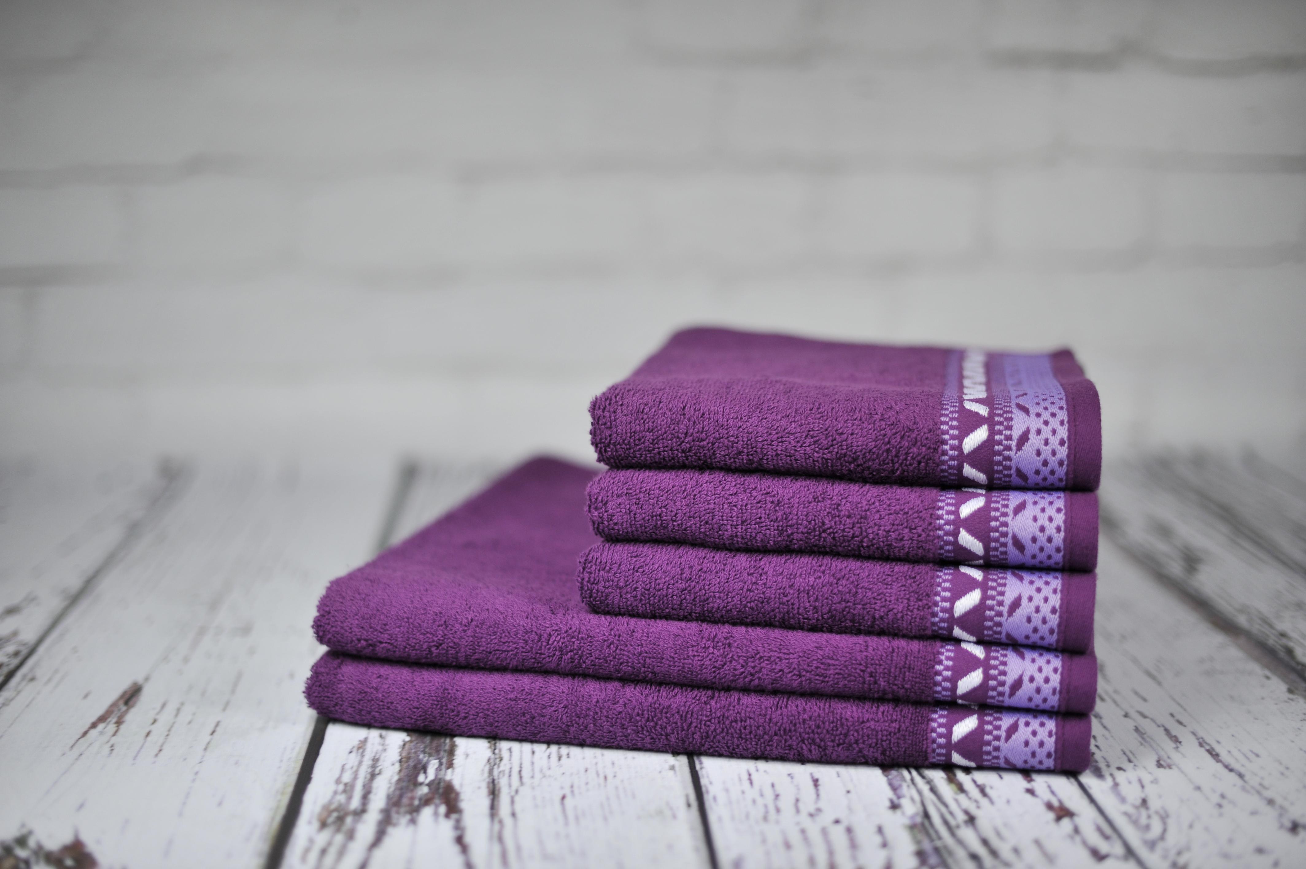 Ręcznik Kwarc ciemnofioletowy