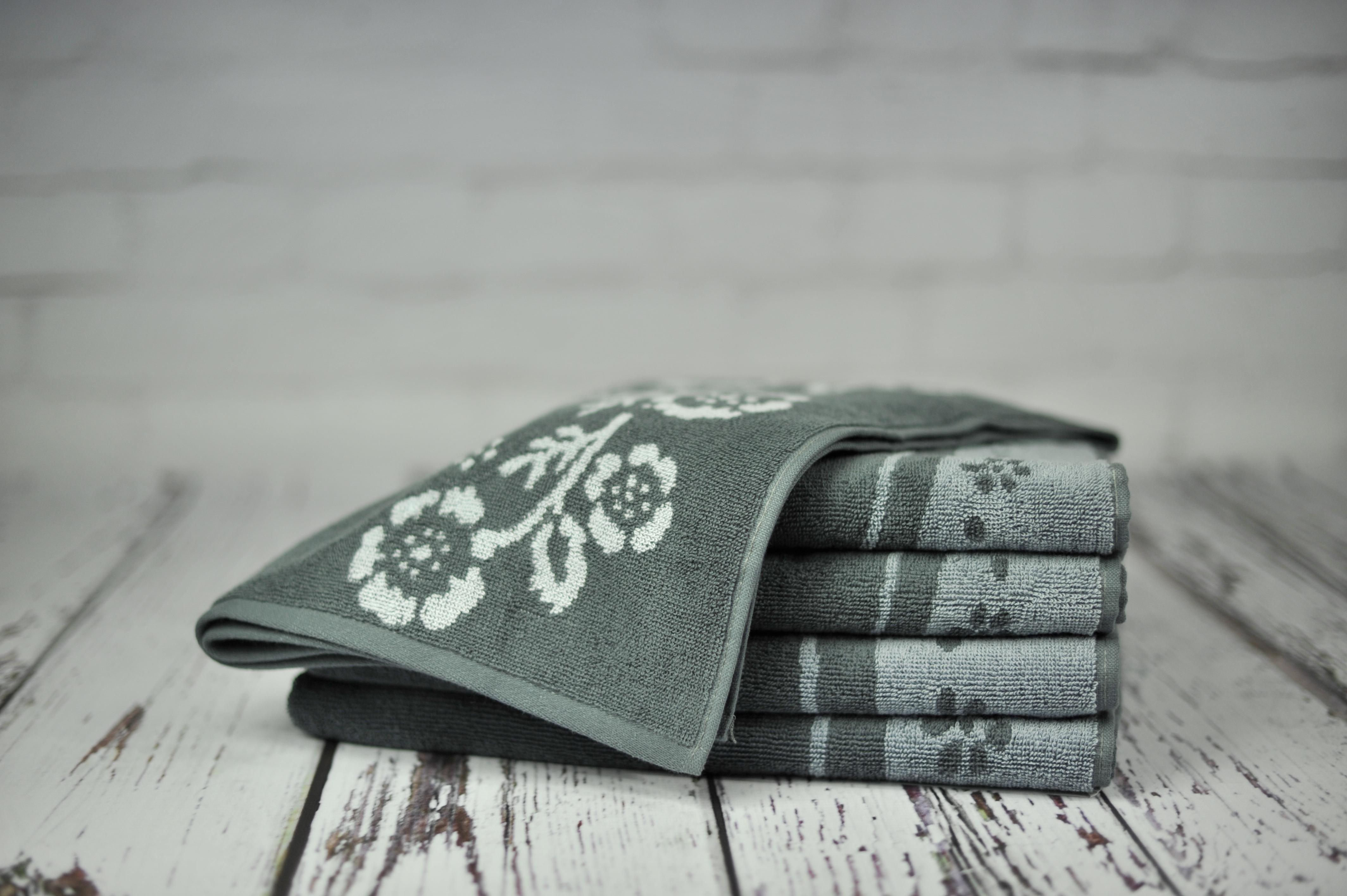 Ręcznik Piwonia szary