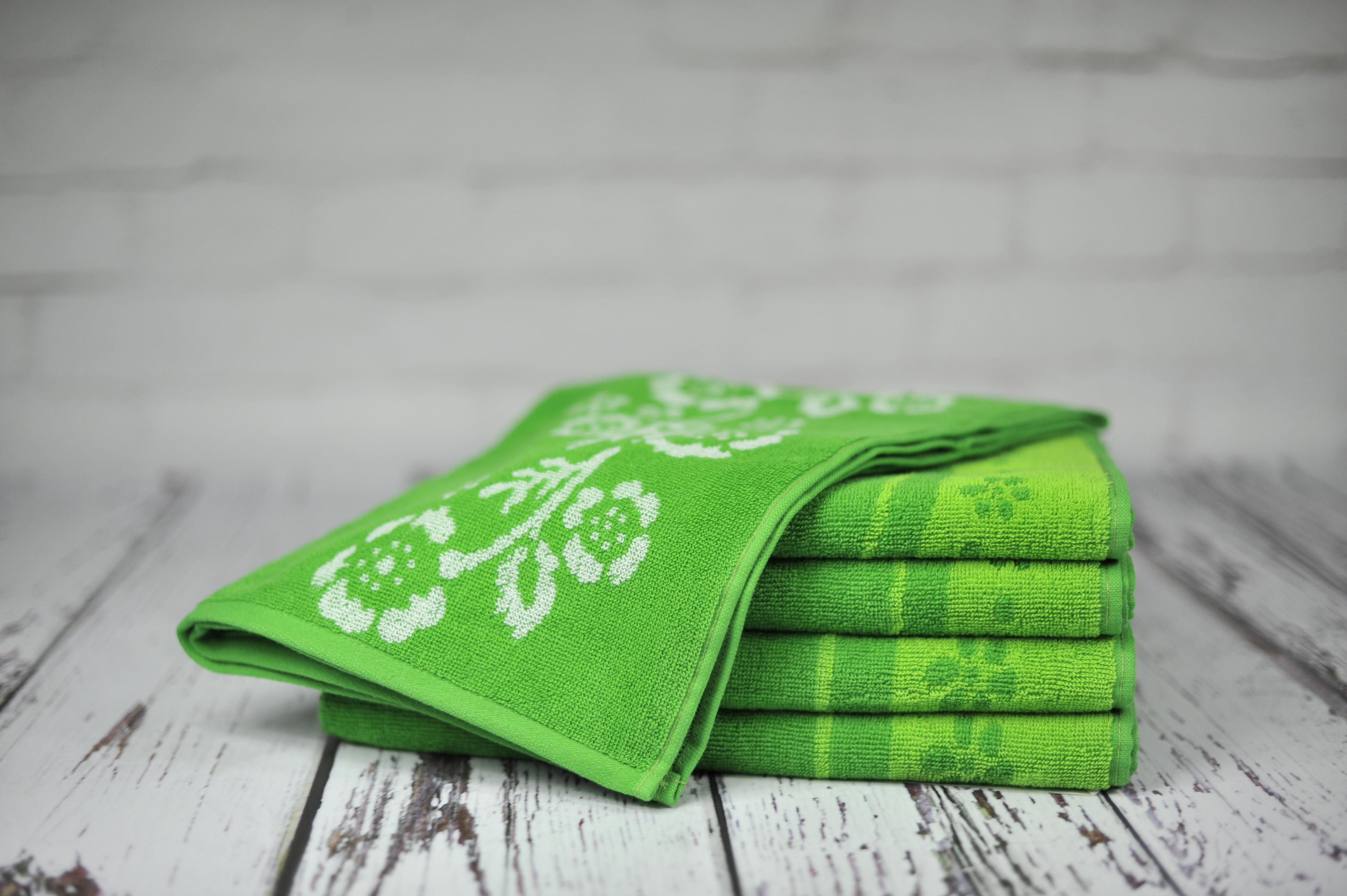 Ręcznik Piwonia zielony