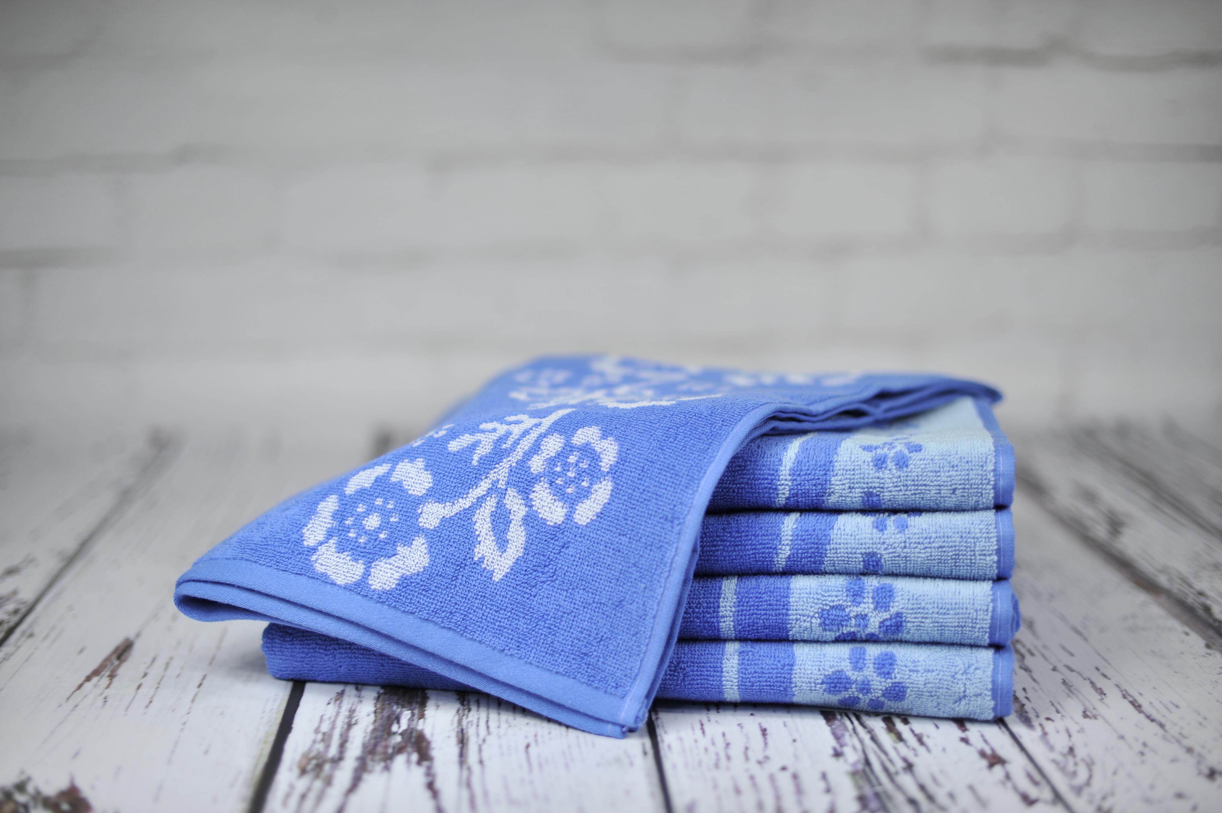 Ręcznik Piwonia niebieski