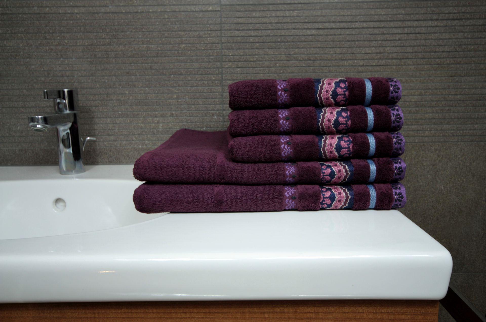 Ręcznik Aztec fioletowy