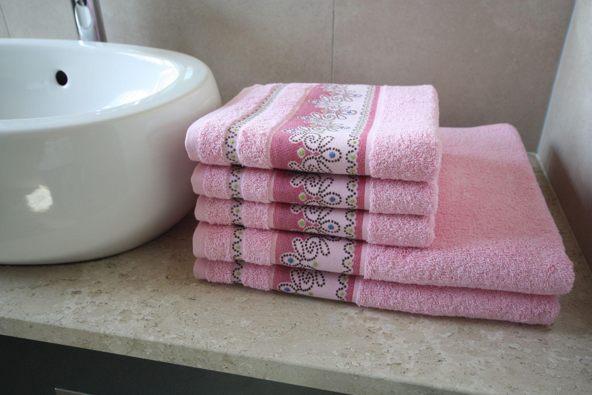Ręcznik Pawik różowy