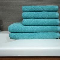 Ręcznik Romby turkusowy