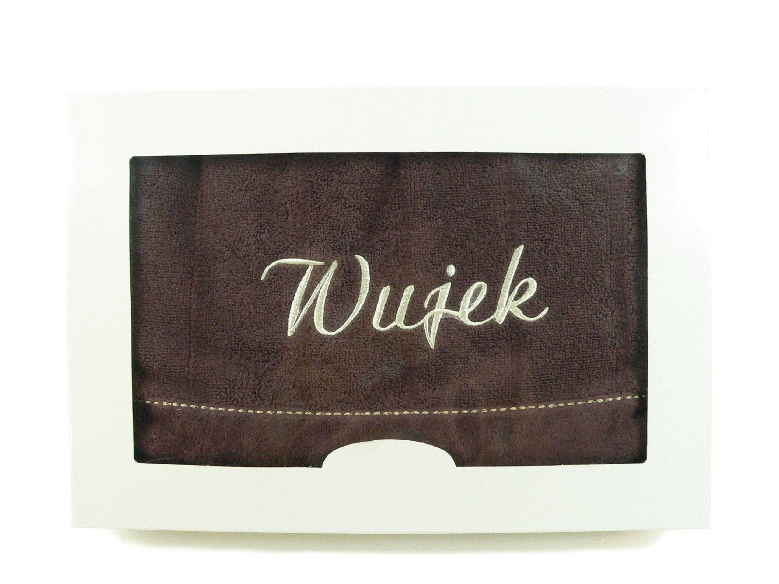 Ręcznik z haftem w ozdobnym pudełku